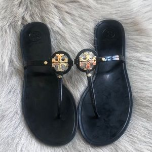 Tory Burch Black Mini Miller Jelly sandals 10